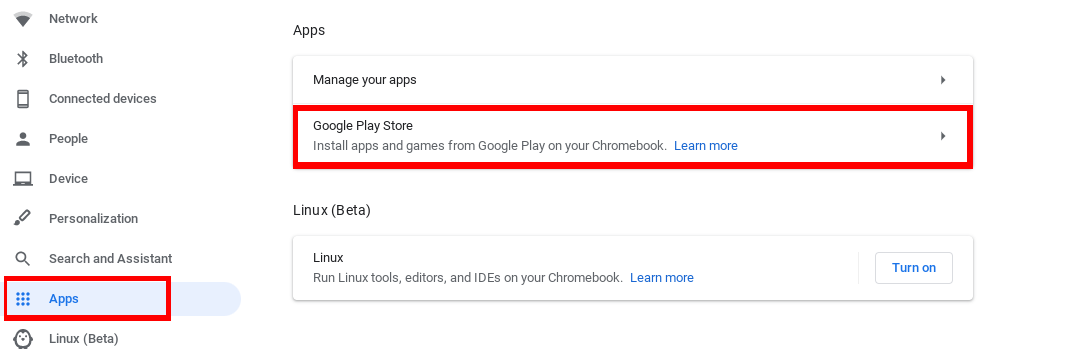 Turn on google play features (1)