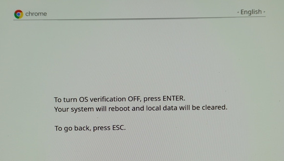 OS Verification Turned OFF
