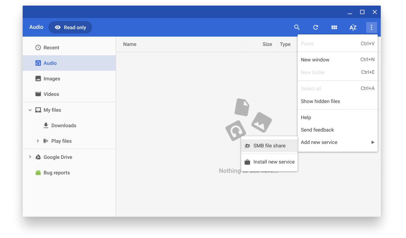 SMB file share - Files App
