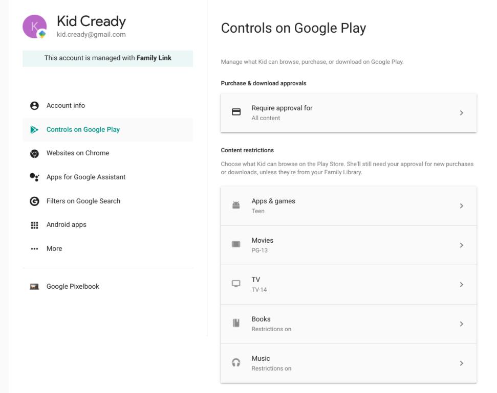 Controls on Google Play
