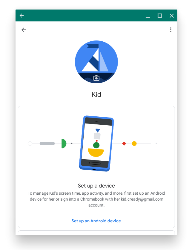 Family Link Interface