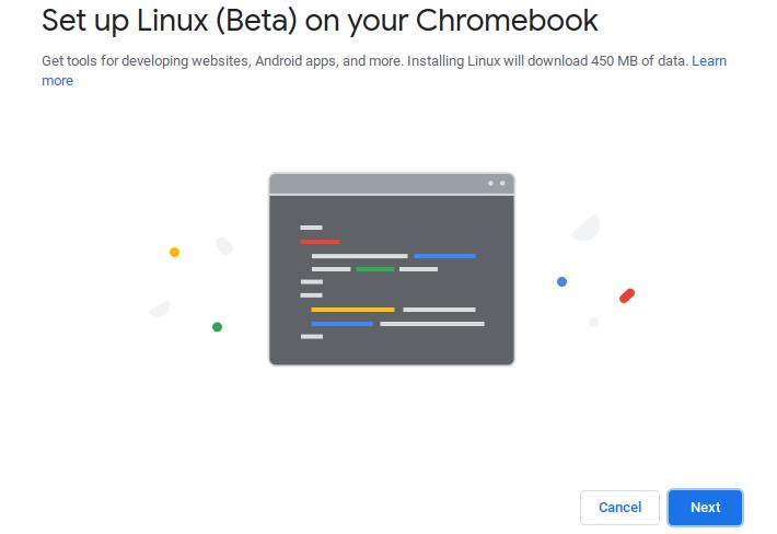 Installing Linux on Chromebook
