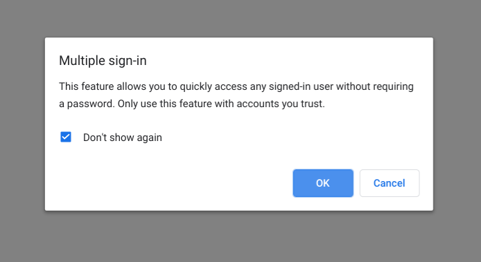 Multiple sign-in