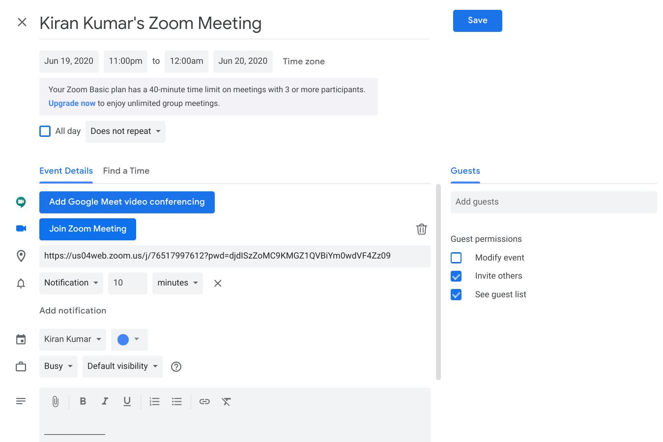 Schedule a Zoom Meeting