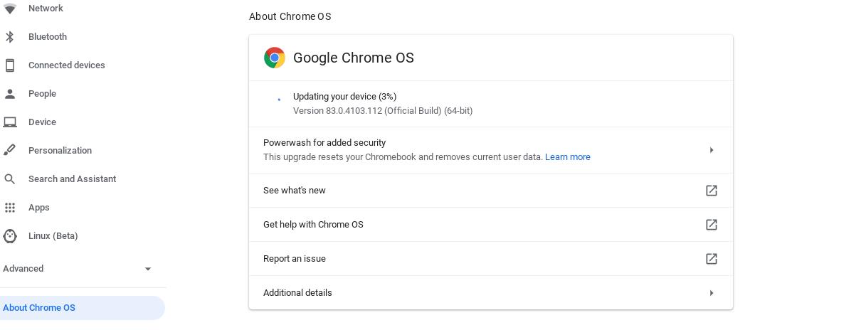 Update ChromeOS